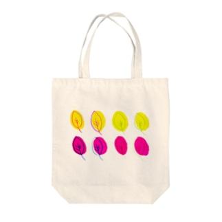 カラフルリーフ  No.2 Tote bags