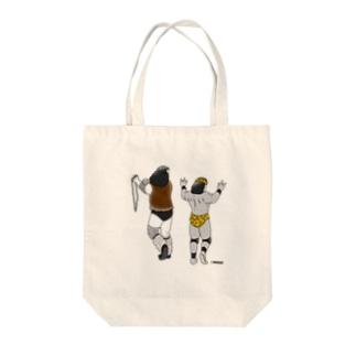 飛 獣 Tote bags