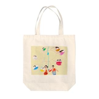 観覧車 クレヨン Tote bags