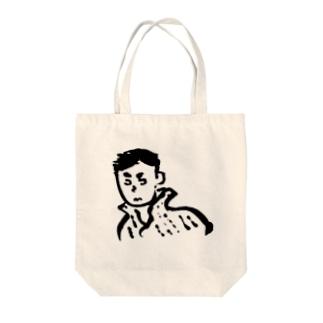 縞シャツの洋次郎 Tote bags