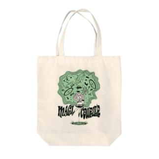 """MAGI COURIER"" green #1 Tote Bag"