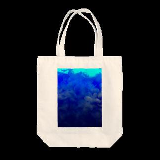 Luckyemeの海月~グラデーション~トートバッグ