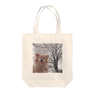 ポメラニアンと桜 Tote bags