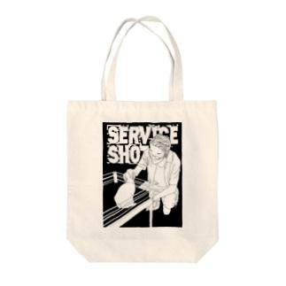 Service shot!! Tote bags