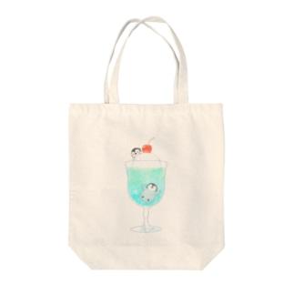クリームソーダとペンギン Tote bags