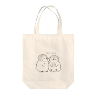 手描きペンギン Tote bags