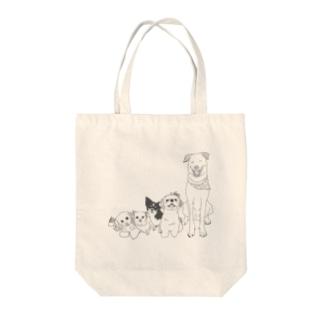 スタッフ犬グッズ Tote bags