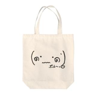 (๑•﹏•๑`)ぷえ〜っ Tote bags
