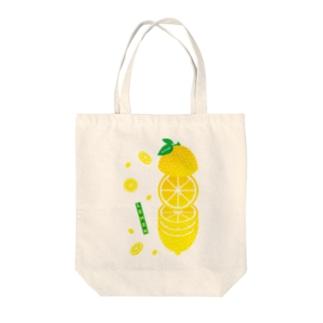 これでもフルーツ★レモン-輪切り-縦 Tote bags