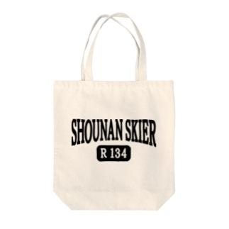 ルート134 湘南スキーヤーロゴ Tote bags