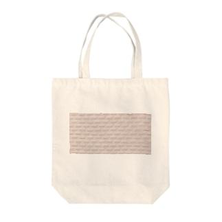 ホワイトピンクタイル Tote bags