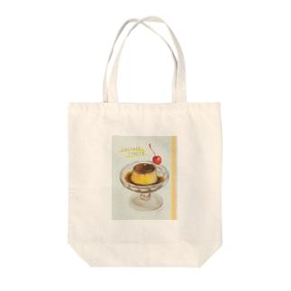 喫茶プリン Tote bags
