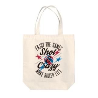 Shot&Crazy Tote bags