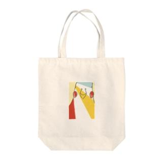 カラフルインコ Tote bags