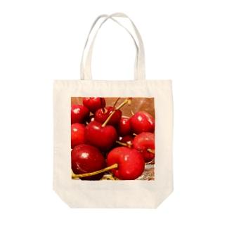 アメリカンチェリー Tote bags
