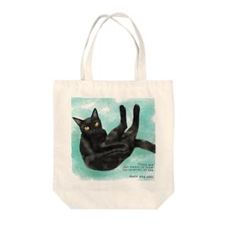 黒猫っぽい猫 アド君 Tote bags