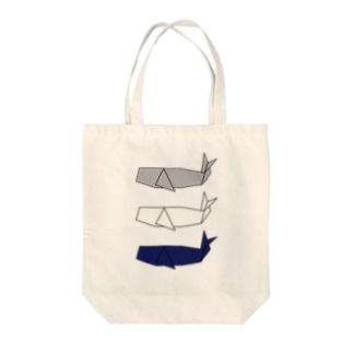 折り紙 マッコウクジラ Tote bags