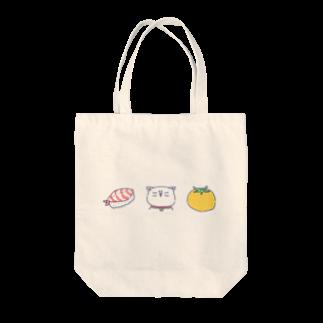 マルメロのすしねこトマトトートバッグ
