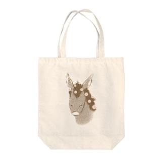 花散るロバ Tote bags