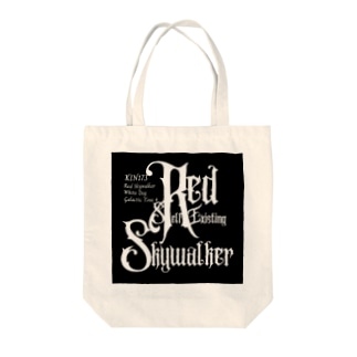 KIN173赤い自己存在の空歩く者 Tote bags