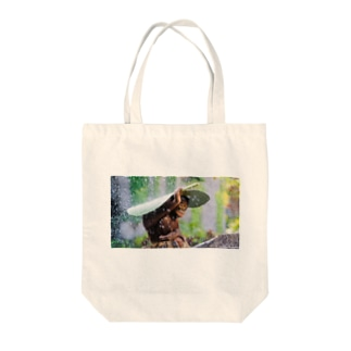 あまやどり猿 Tote bags