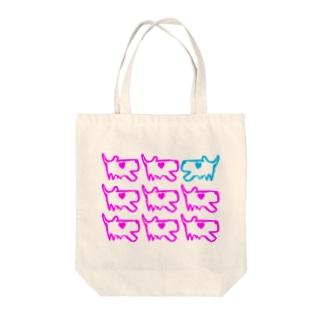 いすいぬ Tote bags