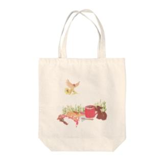 森のお茶会 Tote bags