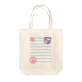 marine letter Tote bags