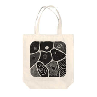 cells.gray Tote bags