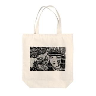 自作ペン画グッズ Tote bags