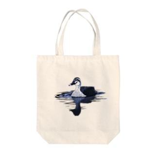 カルガモ(ブルー) Tote bags