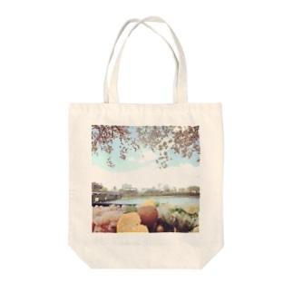 花見 Tote bags
