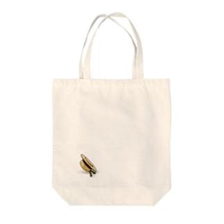 ワンポイントの麦わら帽子 Tote bags
