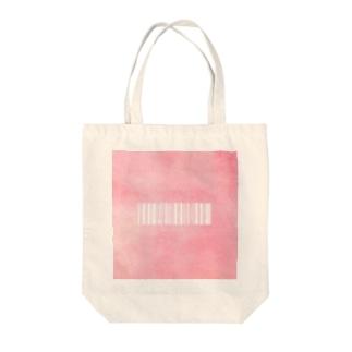 ローズクォーツ(バーコードver) Tote bags