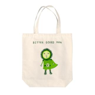 沖縄デザイン「ゴーヤマン」 Tote bags