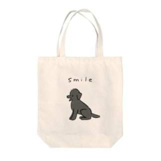 トイプーのスマイル(ブラック) Tote bags