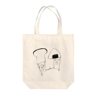 おにぎりvs食パン Tote bags