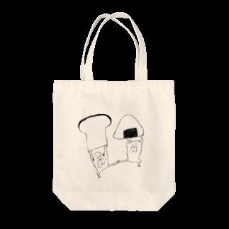 室井雑貨屋のおにぎりvs食パン Tote bags