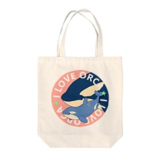 ベビーシャチB(桃) Tote bags