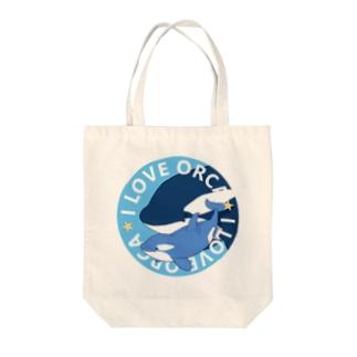 ベビーシャチB(青) Tote bags