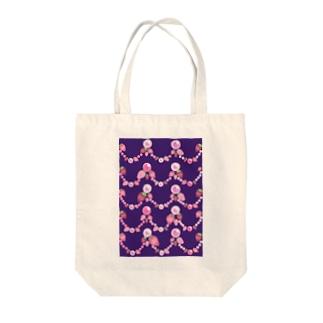 いちごと水晶玉のふんわり紫魔法 Tote bags