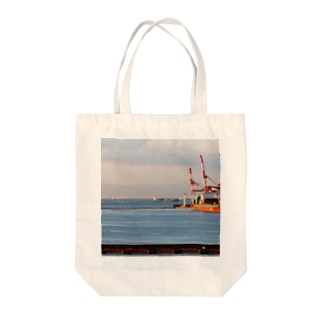 兵庫県:神戸付近の海の風景 Hyogo: view of the sea around Kobe Tote bags