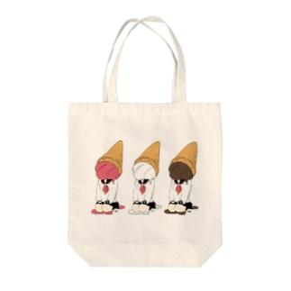 ソフト三姉妹 Tote bags