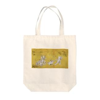 魚獣戯画〜第21紙〜ガタ相撲 トートバッグ