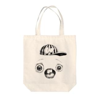 さちおくんの顔の写真 Tote bags