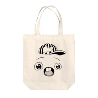 さちおくんの顔の絵 Tote bags