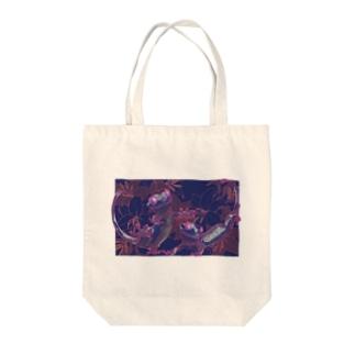カサブランカとクレステッドゲッコー(パープル) Tote Bag