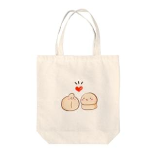 ラブラブニャンちゃん Tote bags