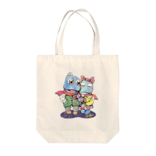 干潟の恋 Tote bags