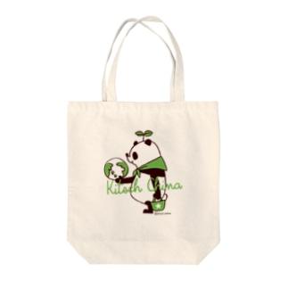 SAVE PANDA Tote bags
